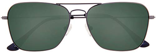 Stylle Polarized Classic Aviator Gunmetal Frame with Green Lens with Case and Cloth