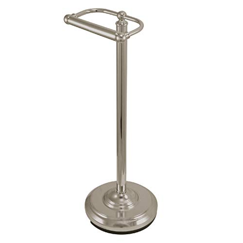 Kingston Brass CC2008 Classic Pedestal Paper Holder, Brushed Nickel,21-1/2' Length