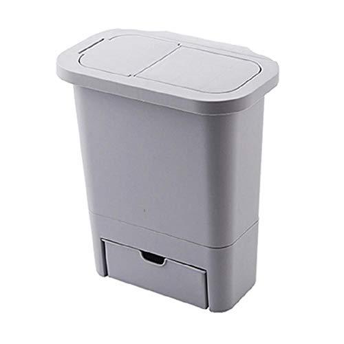Hamkaw Cubo de Basura para Colgar en la Puerta del Armario de Cocina con Tapa y cajón Oculto para Colgar en la Pared, Papelera de Cocina