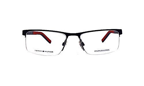 Tommy Hilfiger Brille (TH-1594 FLL) Acetate Kunststoff - Metall matt blau - matt rot