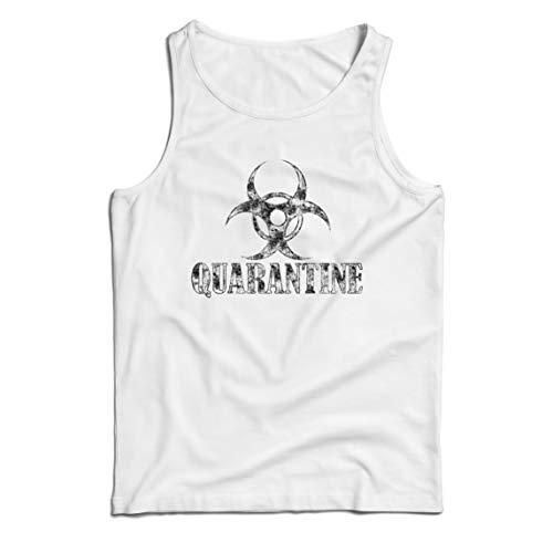 lepni.me Camisetas de Tirantes para Hombre Cuarentena y Descanso Distanciamiento Social Quedarse en Casa (XXXX-Large Blanco Multicolor)
