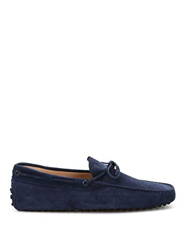 Tod's Luxury Fashion Herren XXM0GW05470RE0U820 Blau Wildleder Mokassins | Jahreszeit Permanent