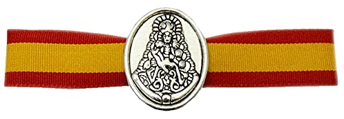 Tiendas LGP - Pulsera Virgen del Rocio Tela y medalla metalica - 29 X 1,50 cm.