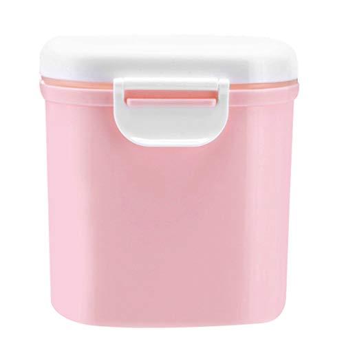 BESLIME Contenitore per Latte in Polvere per Neonati,800ML Milk Powder Dispensers Dispenser per Alimenti Portatile(Rosa)