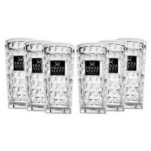 Three Sixty Vodka Longdrink Glas Gläserset ? 6X 0,3L geeicht