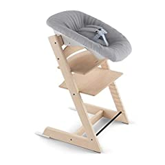 Enables the Tripp Trapp to be used from birth 5-point safety harness and soft shoulder pads for comfort Angle adjustable with easy to use one-hand adjustment Toy hanger included Fits any Tripp Trapp chair produced after May 2003
