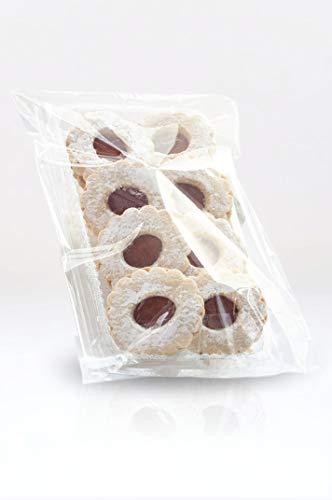 Italpak Buste Trasparenti, Alimenti o Mascherine con Patella, Sacchetti con Chiusura Adesiva, 100 pz, 15x22+4 cm, X000000152213