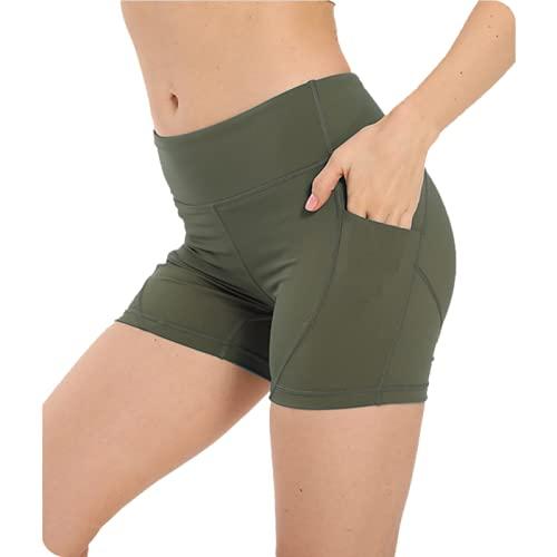 Pantalones Cortos para Mujer Primavera y Verano Pantalones Cortos Deportivos Ajustados de Cintura Alta Pantalones de Yoga cómodos elásticos de Fitness XL
