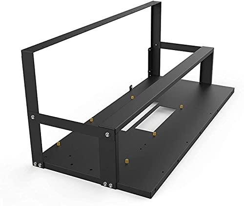 Ghongrm Caso DE MINERO Soporte de la Placa Base del Bastidor, la Caja de la Plataforma de Marco de minería Abierta Eth/ETC/ZEC Ether Accesorios Herramientas para 6-8 GPU -Rack Solamente (TAMAÑO: B