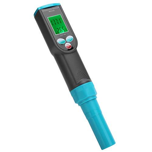 Emoshayoga Medidor de OD 0-199,9% Rango de medición Probador de oxígeno disuelto Probador de Calidad del Agua de conveniencia para Piscinas de acuicultura