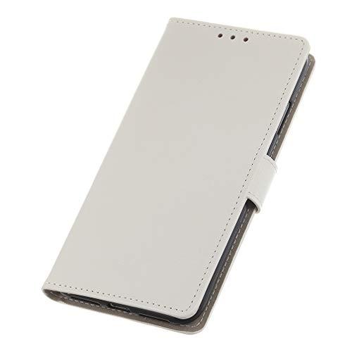 GOGME Cover per Xiaomi Mi 10T 5G Cover, [Flip Stand/Card Slot] Flip Case Custodia in Pelle PU Premium Antiurto, Cover a Libro con Supporto/Magnetico/Portafoglio, Bianca