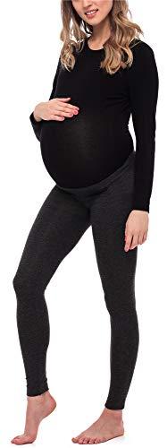 Be Mammy Leggins Premamá Largos Embarazo Lactancia BE20-253(Melange Oscuro, XL)