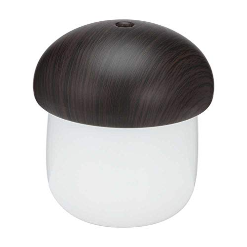 YSNMM Luchtbevochtiger, 250 ml, ultrasone etherische olie, mistmaker, USB-luchtbevochtiger, kantoordiffuser voor paddenstoelen met led-nachtlampje