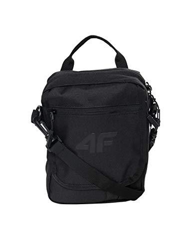 4F Sac à bandoulière pour homme et femme | Petit sac à bandoulière | Sac à main pour l'extérieur pour téléphone portable, H4L19-TRU001_Deep_Black, Noir