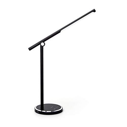 Aigostar - Lámpara Escritorio LED, Puerto USB, Control Táctil, 5 Modos, 10 Niveles de Brillo. Flexo, Función de Memoria, 8W, Negro