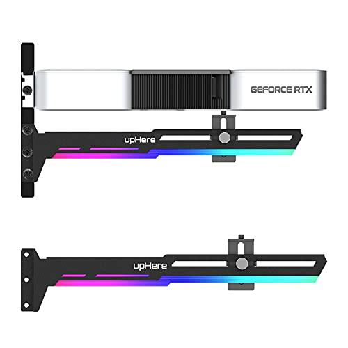 upHere RGB LED Grafikkarte GPU Brace Support-Videokarte Sehnenhalter/Holster-Halterung, GPU Halterung,Einzelsteckkarten, G276ARGB