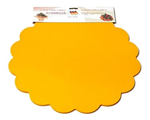 Decpero Blumella Topfmanschetten / 25 Stück / 44 cm/gelb