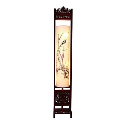SXRKRZLB Kreative Teahouse Stehlampe Antike Einfache Massivholz Nacht Studie im japanischen Stil Lampe