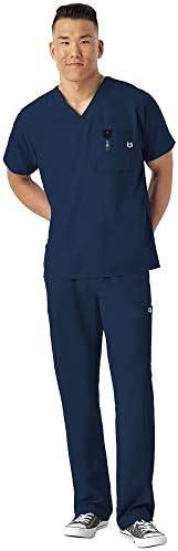 WonderWink W 123 Men s Medical Uniforms Scrub Set Bundle 6355 V Neck Scrub Top 5355 Elastic product image
