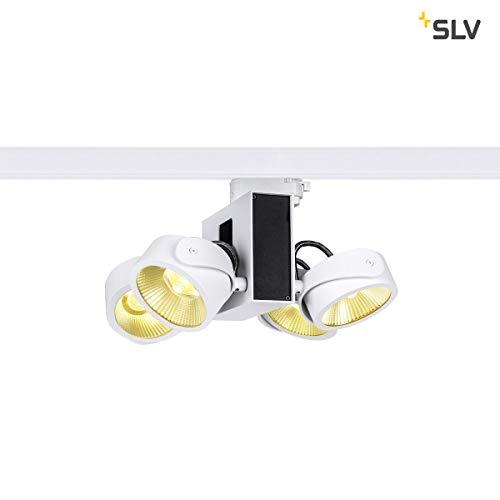 SLV TEC KALU quad weiß/schwarz 24° 3000K, inkl. 3P.-Adapter