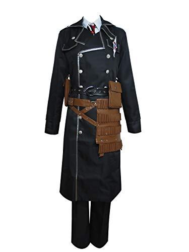 Ao no Exorcist True Cross Order Yukio Okumura Uniform Outfit Cosplay Costume (Male XL) Black