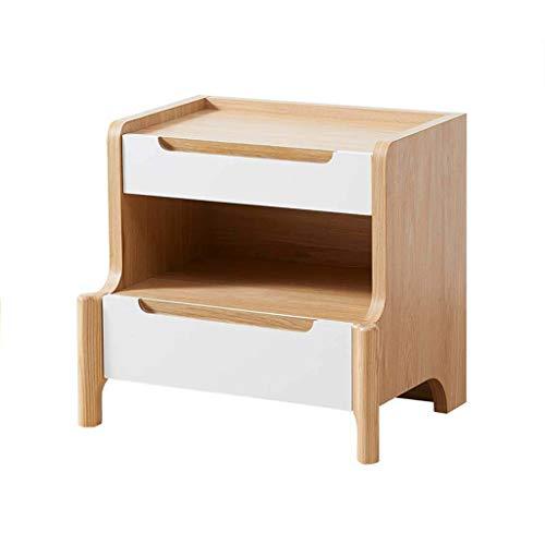 XIANGE100-SHOP Mesita Moderna Simple de Madera Dormitorio Montado Mesilla de Noche nórdica Pequeño Gabinete de Almacenamiento Creativa con cajón Gabinete