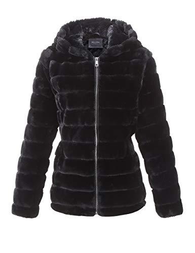 iQKA Women Winter Warm Leather Jacket Casual Long Sleeve Faux Fur Lightweight Jacket Slim Fit Outwear Overcoat Top Blouse