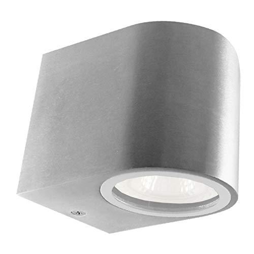Evolution 4W Downlight LED Außenleuchte Wandleuchte Wandlampe Aluminium New York 1-fach IP54 inkl. Leuchtmittel, warmweiß, für Innen und Außen