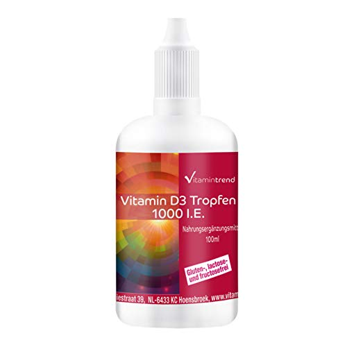 Vitamine D3 Huile 1000 I.E. - 100ml - dosage élevé - Cholecalciferol
