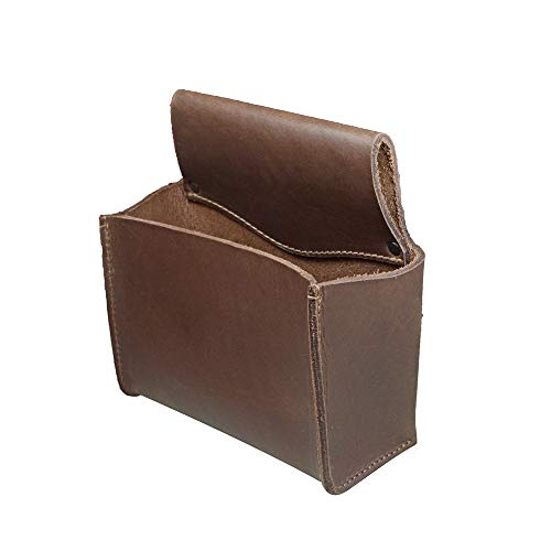 Hide & Drink, Thick Leather Multipurpose Belt Bag, Hardware Pouch, Tool Holder, Woodworker Accessories, Handmade Includes 101 Year Warranty :: Bourbon Brown