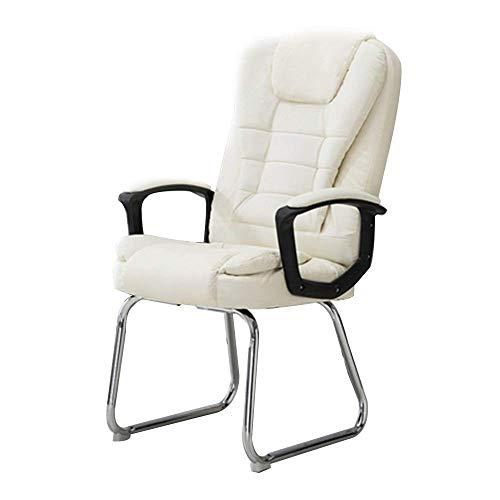 Life Equipment Chaise d'ordinateur confortable à dossier haut en cuir PU Chaise de bureau de jeu Pied d'arc Chaise de bureau d'ordinateur Double siège Coussin Design Chaise de bureau ergonomique po