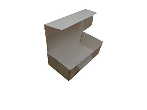 1/2 Pound White Paperboard Box, Candy Fudge Taffy, Pack of 25, by Online Monger