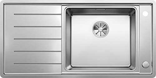 BLANCO ANDANO XL 6 S-IF, Küchenspüle, Becken rechts, mit Multifunktionsschale, InFino-Ablaufsystem und Ablauffernbedienung, Edelstahl Seidenglanz; 522999