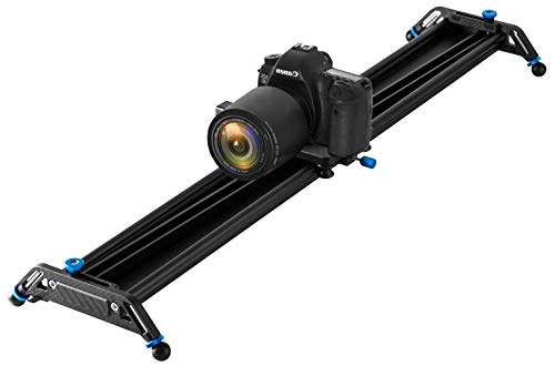 """GVM Motorized Camera Sliders Track Dolly with Time Lapse Tracking and Wider Angle Video Stabilizer, Black 48""""/120cm"""
