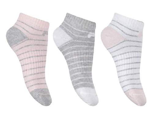 Fila F8912D - Calcetines bajos para niña con lurex, paquete de 3 unidades rosa 35-38