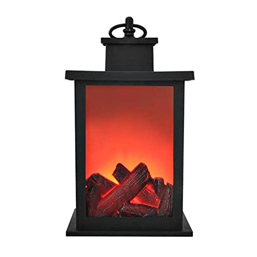 XCUGK Linterna de Chimenea de simulación LED Linterna de Mesa Colgando Sin Llama Llama dinámica para Exteriores Interiores