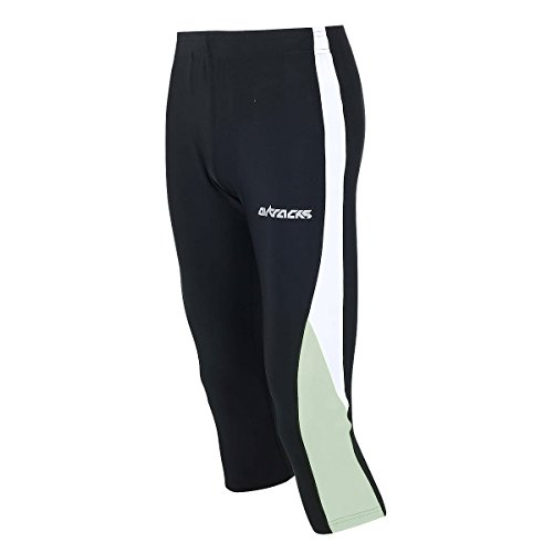 Airtracks FUNKTIONS Laufhose 3/4 LANG/Running Hose/Tight/Kompression - schwarz - S