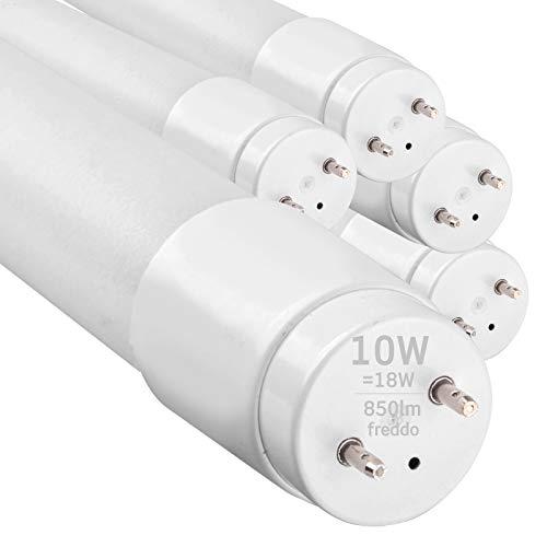 5x Tubi LED 60cm G13 T8 10W Professionale Garanzia 5 Anni 850 lumen - Luce Bianco Freddo 6400K - Fascio Luminoso 160° - Sostituzione Neon