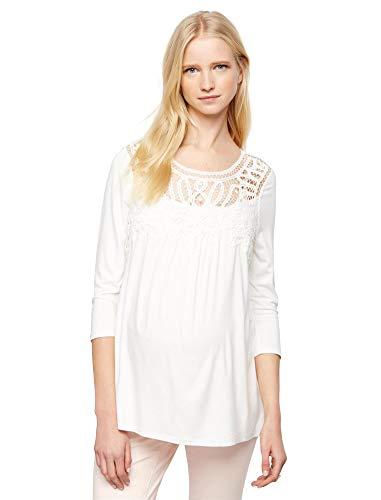 Daniel Rainn Lace Maternity Shirt White