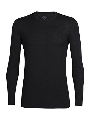Icebreaker Herren Merino Tech Lite Long Sleeve Crewe, schwarz (schwarz)S