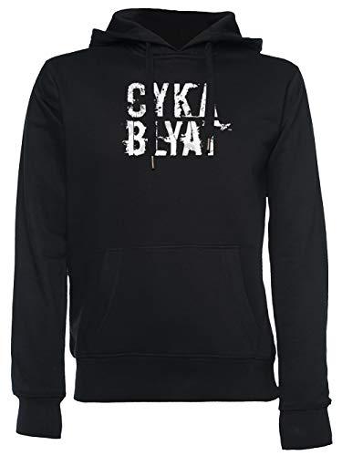 Cyka Blyat Unisexe Homme Femme Sweat À Capuche Noir Unisex Men's Women's Hoodie Black XXL
