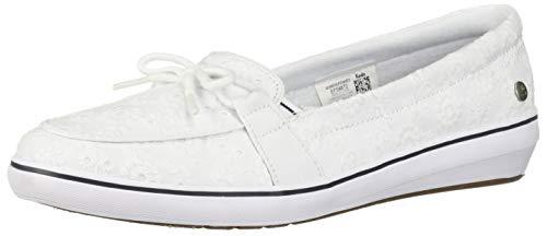 Grasshoppers Women's Windsor Bow Sneaker, White Eyelet, 8 Wide