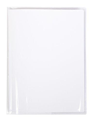 Calligraphe (gamme scolaire Clairefontaine) 73000AMZC - Un protège-cahier Cristalux 17x22 cm 22/100ème avec porte-étiquette, en PVC (plastique) transparent lisse, Incolore