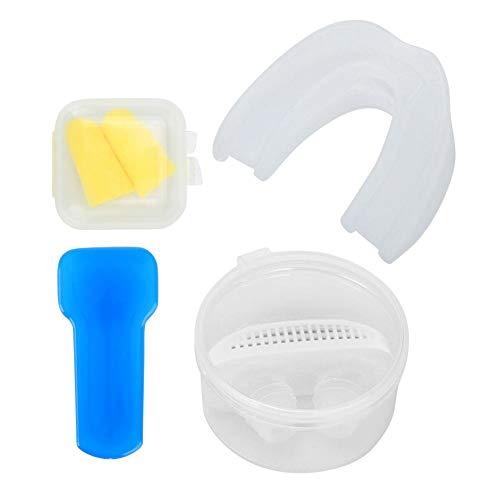 Anti-snurken ose Clip Oordop Mond Tanden Lade Gezondheidszorg Nachtrust Hulp Stop Snurken Set(Wit)