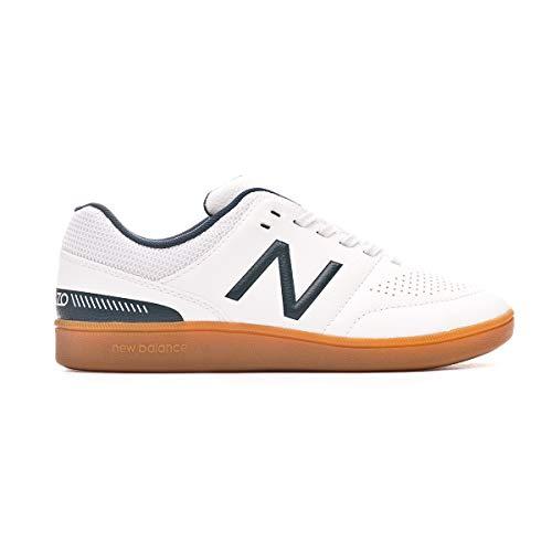 New Balance Audazo v4 Control Niño, Zapatilla de fútbol Sala, White, Talla 4 US (36 EU)