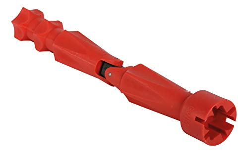 Calmwaters® - WC-Sitz Montageschlüssel mit Gelenk für Flügelmuttern und Schraubenköpfe aus Kunststoff in Rot - 27LP2923