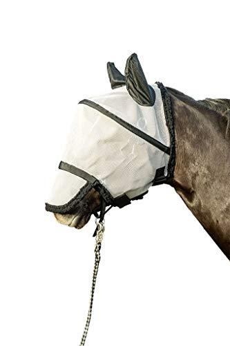 HKM Fliegenschutzmaske mit Nüsternschutz zum Abkletten, Silber/schwarz, M