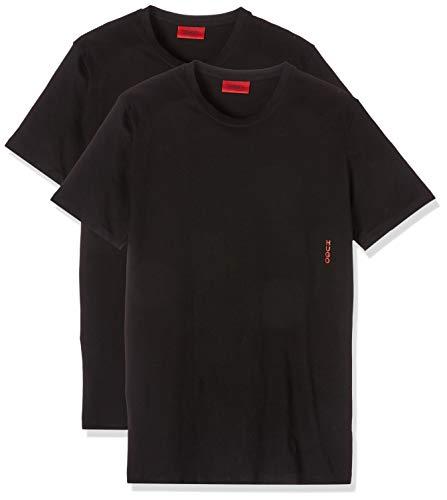 HUGO Herren RN Twin Pack T-Shirt, Schwarz (Black 001), Medium (Herstellergröße: M) (2er