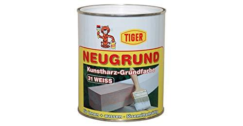 Tiger Neugrund Kunstharz Lösemittelhaltig-Grundfarbe Isolier-und Sperrgrund Nikotin Sperre innen&außen Weiß 1 Kg