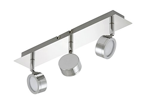 Trango TG2003 - Faretti a LED da soffitto con 3 punti luce, lampadine a LED incluse